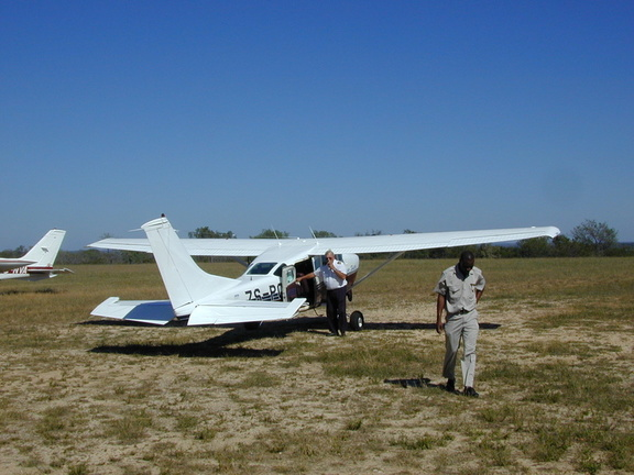This Cessna, the smallest plane we would be on, took us the last 10 minutes to Djuma