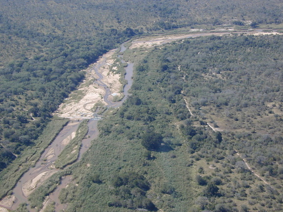 The Sabi River from the air