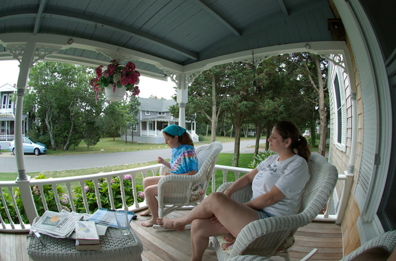Fisheye porch